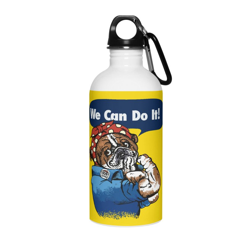 We Can Do It English Bulldog Accessories Water Bottle by huebucket's Artist Shop
