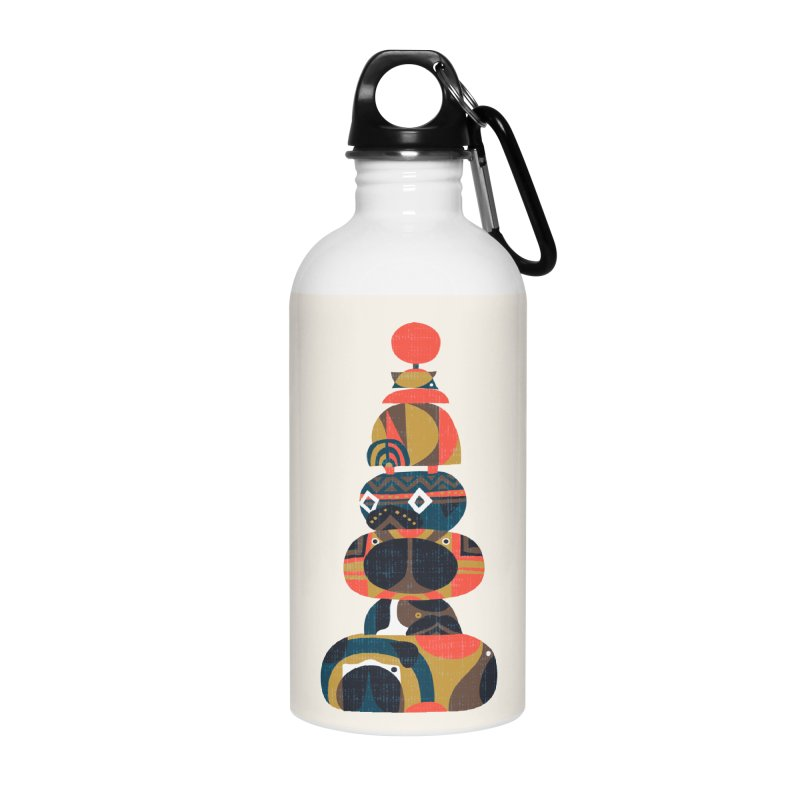 Tower of Pugs Accessories Water Bottle by huebucket's Artist Shop