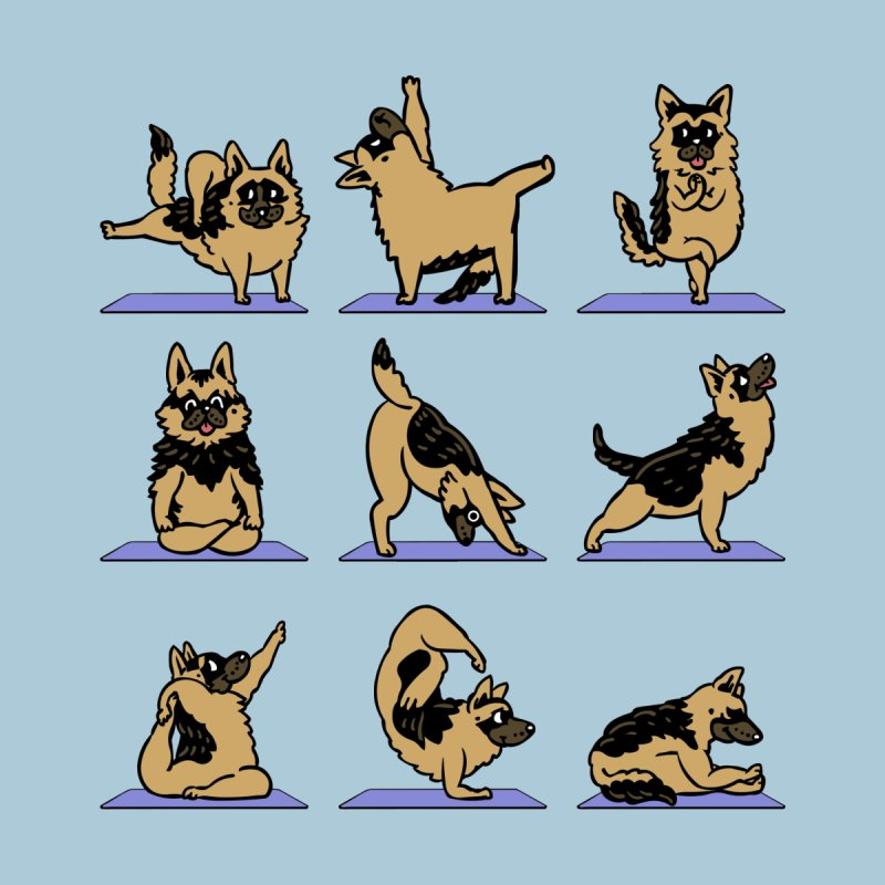 German Shepherd Yoga by huebucket's Artist Shop