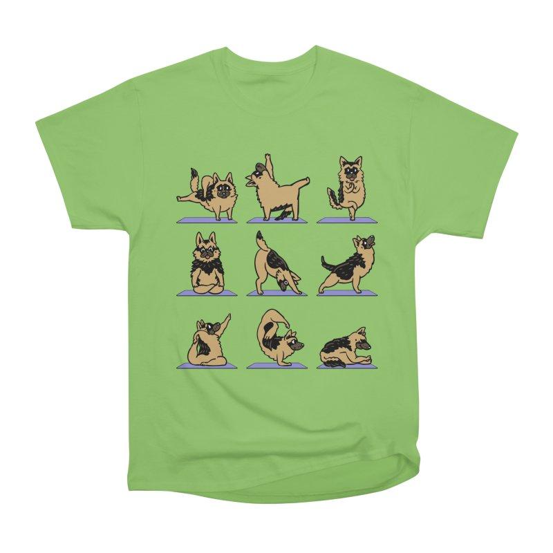 German Shepherd Yoga Men's Heavyweight T-Shirt by huebucket's Artist Shop
