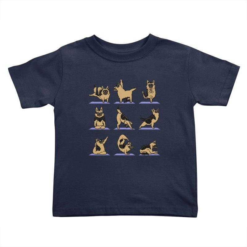 German Shepherd Yoga Kids Toddler T-Shirt by huebucket's Artist Shop
