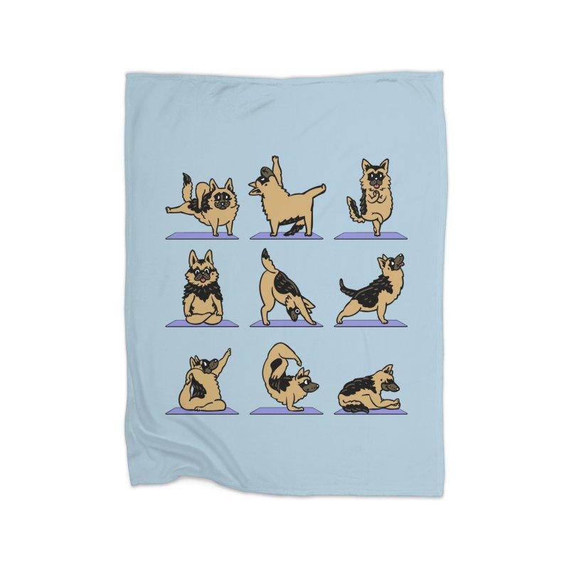 German Shepherd Yoga Home Blanket by huebucket's Artist Shop