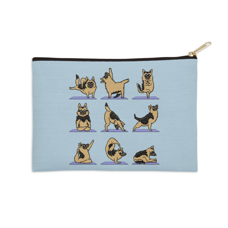 German Shepherd Yoga Accessories Zip Pouch by huebucket's Artist Shop