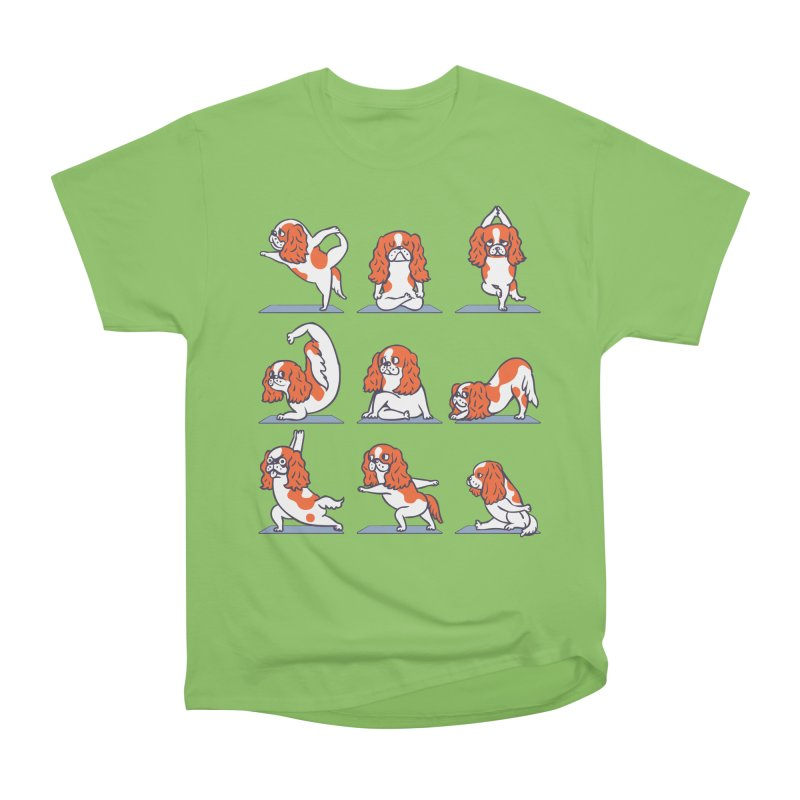 Cavalier King Charles Spaniel Yoga Men's Heavyweight T-Shirt by huebucket's Artist Shop
