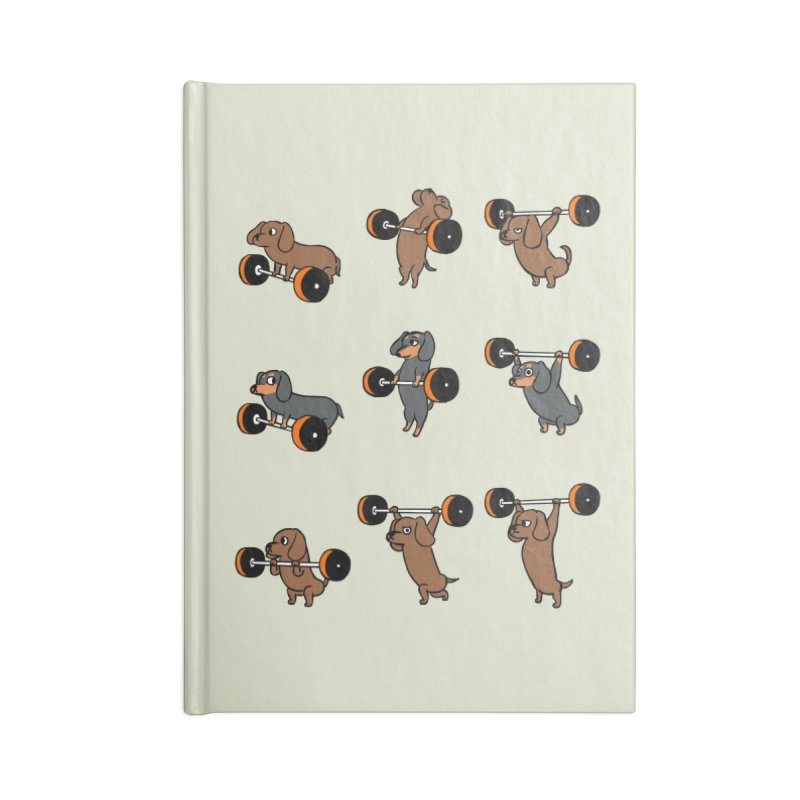 Olympic Lifting Dachshund Accessories Blank Journal Notebook by huebucket's Artist Shop