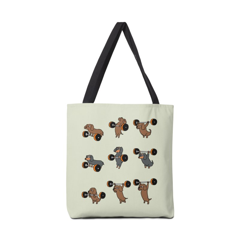 Olympic Lifting Dachshund Accessories Bag by huebucket's Artist Shop