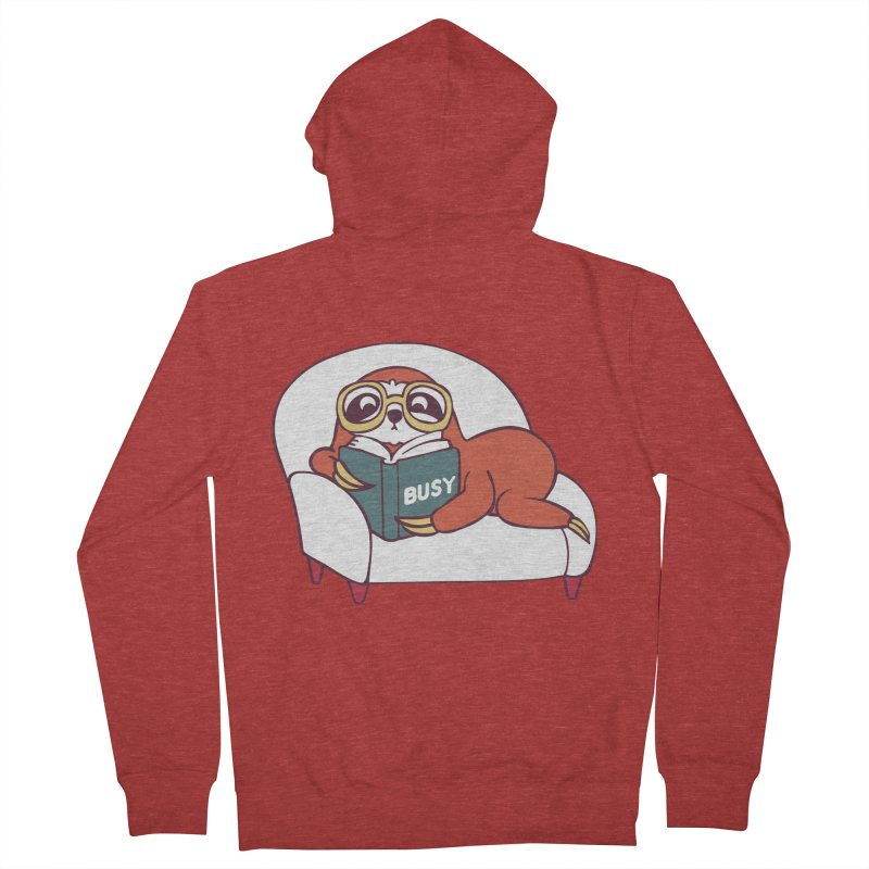 Busy Sloth Men's Zip-Up Hoody by huebucket's Artist Shop