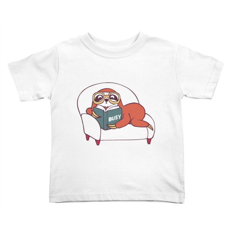 Busy Sloth Kids Toddler T-Shirt by huebucket's Artist Shop