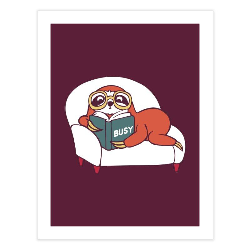 Busy Sloth Home Fine Art Print by huebucket's Artist Shop
