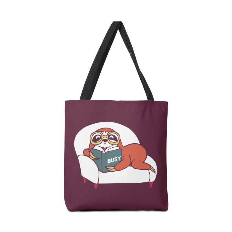 Busy Sloth Accessories Bag by huebucket's Artist Shop