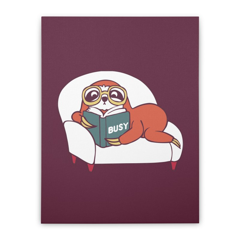 Busy Sloth Home Stretched Canvas by huebucket's Artist Shop