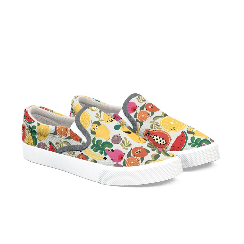 Puppical Fruits Women's Slip-On Shoes by huebucket's Artist Shop