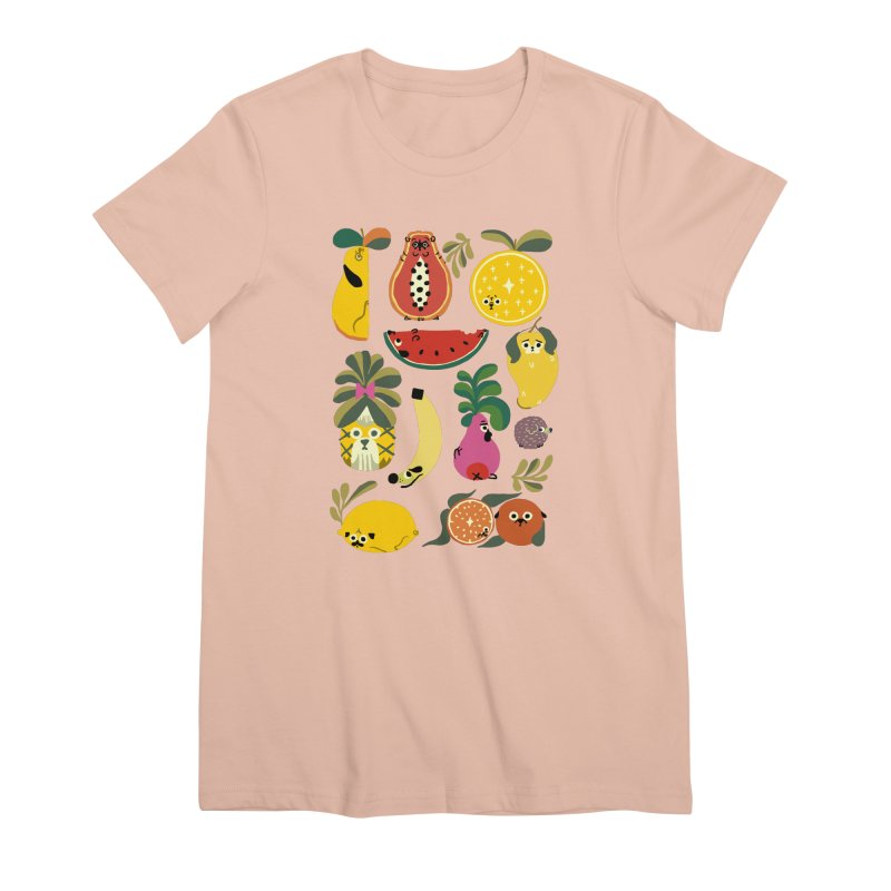 Puppical Fruits Women's Premium T-Shirt by huebucket's Artist Shop