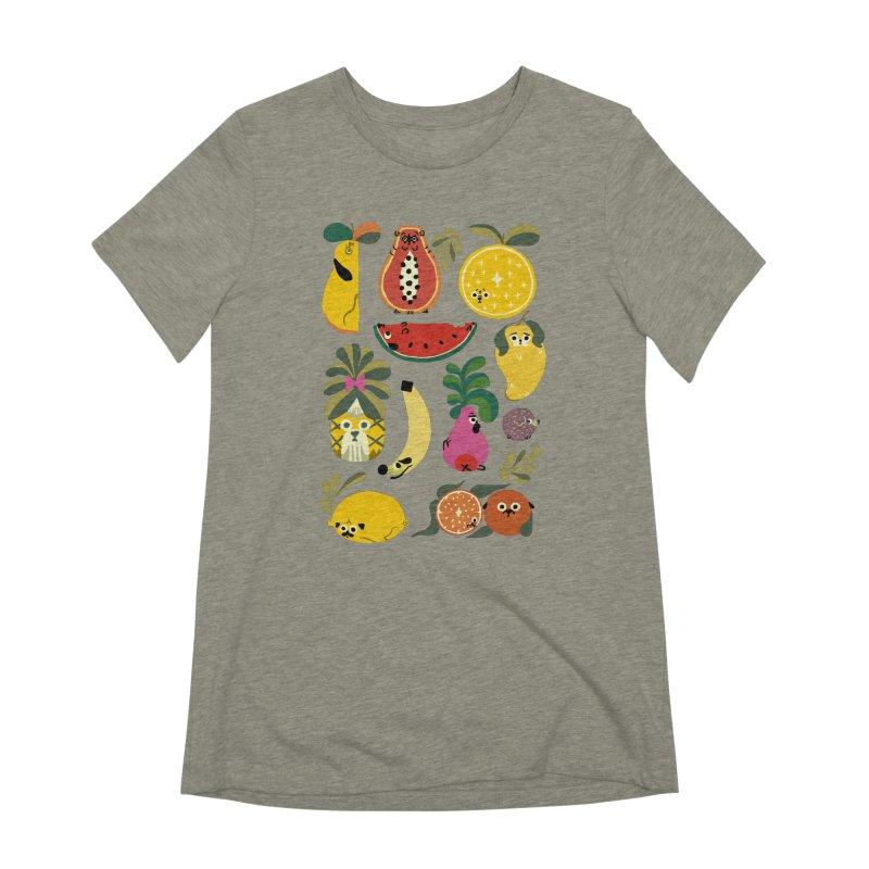 Puppical Fruits Women's Extra Soft T-Shirt by huebucket's Artist Shop