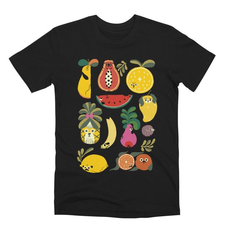 Puppical Fruits Men's Premium T-Shirt by huebucket's Artist Shop