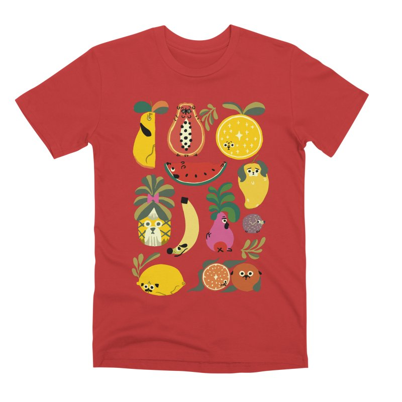 Puppical Fruits Men's Premium T-Shirt by huebucket's Artist Shop