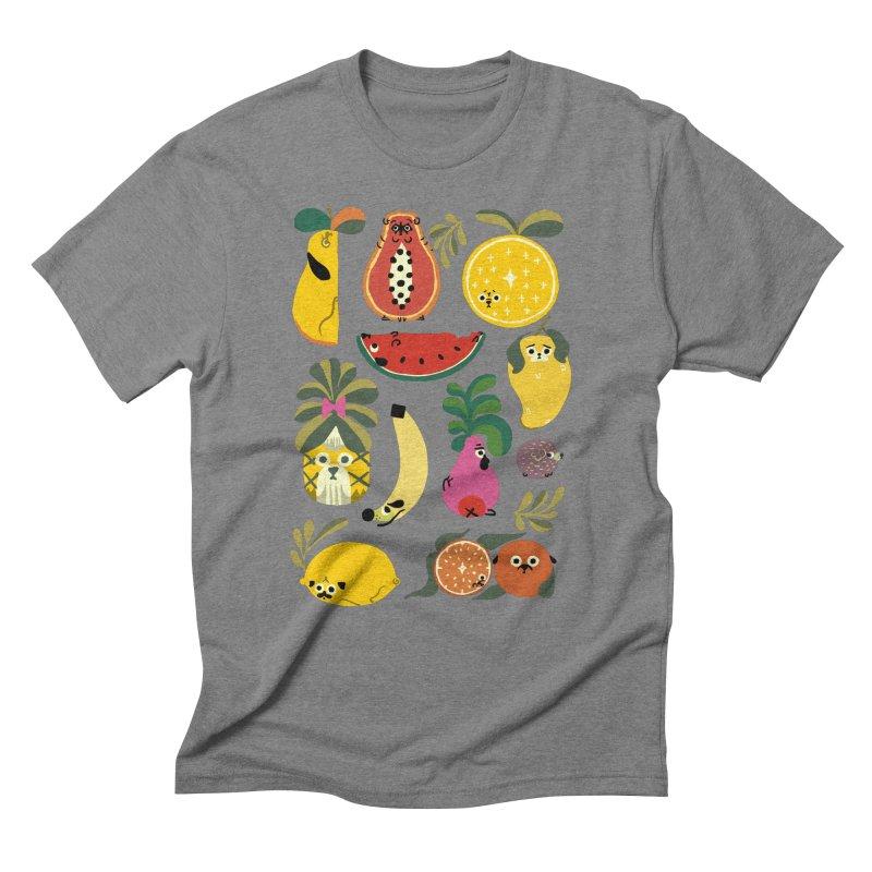 Puppical Fruits Men's Triblend T-Shirt by huebucket's Artist Shop