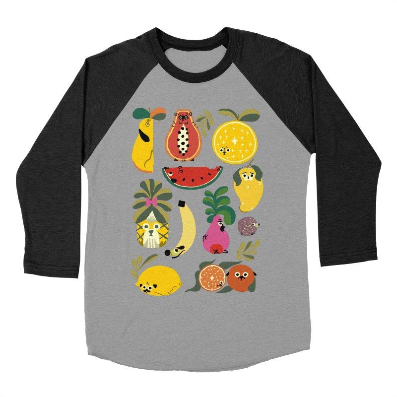 Puppical Fruits Women's Baseball Triblend Longsleeve T-Shirt by huebucket's Artist Shop