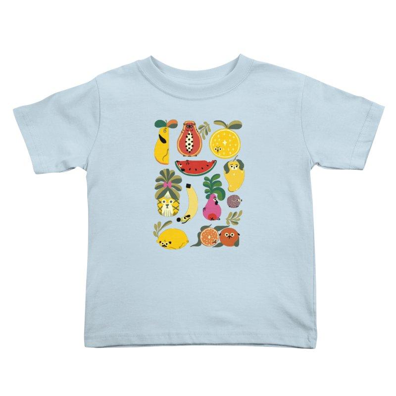 Puppical Fruits Kids Toddler T-Shirt by huebucket's Artist Shop