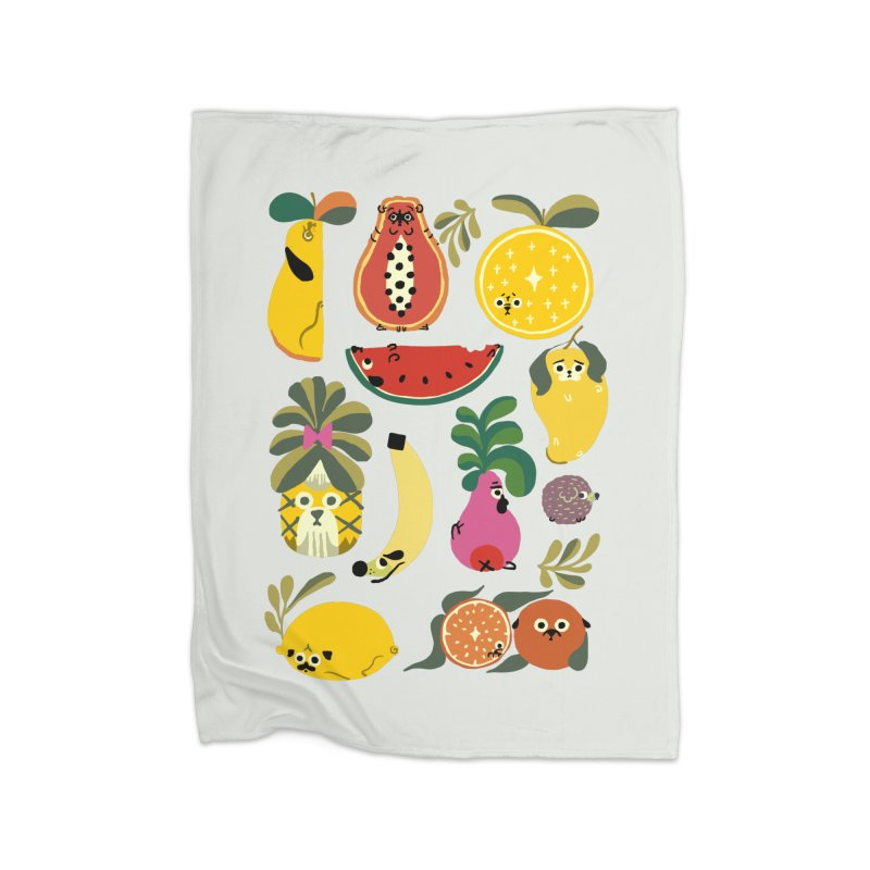 Puppical Fruits Home Blanket by huebucket's Artist Shop