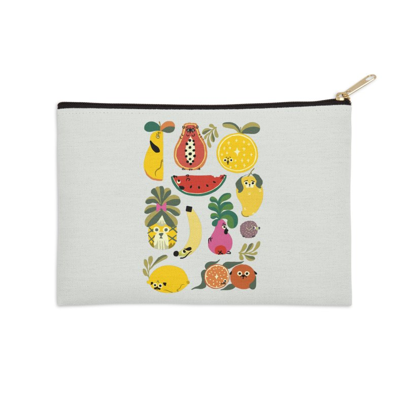 Puppical Fruits Accessories Zip Pouch by huebucket's Artist Shop