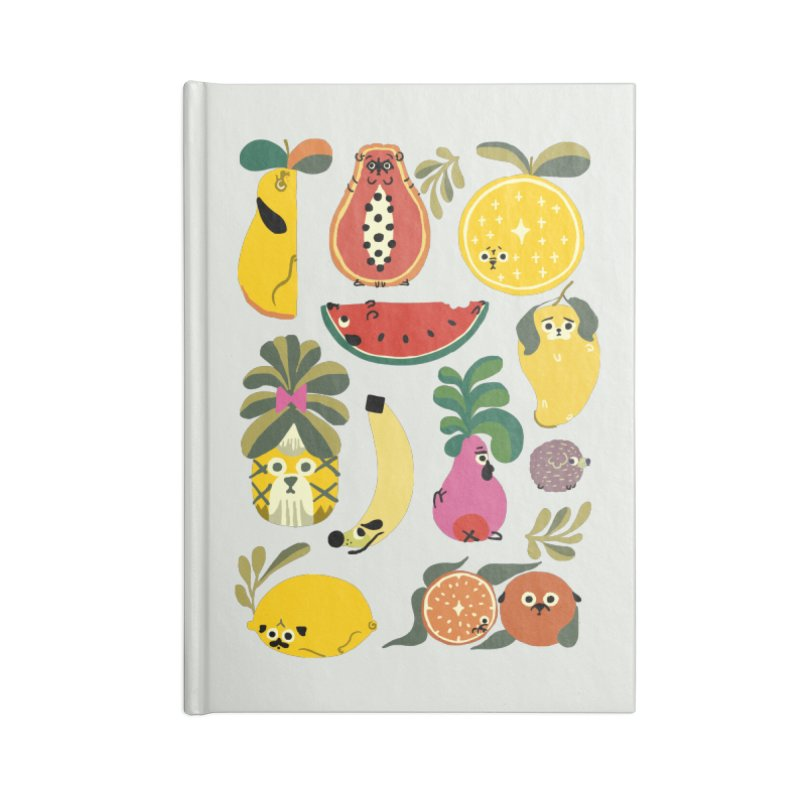 Puppical Fruits Accessories Blank Journal Notebook by huebucket's Artist Shop