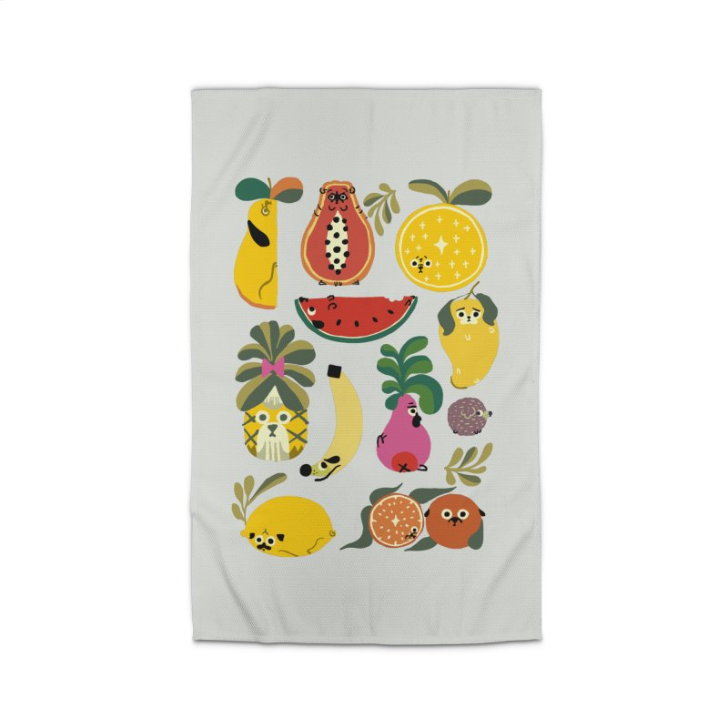 Puppical Fruits Home Rug by huebucket's Artist Shop
