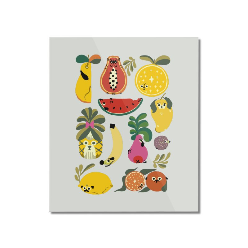 Puppical Fruits Home Mounted Acrylic Print by huebucket's Artist Shop