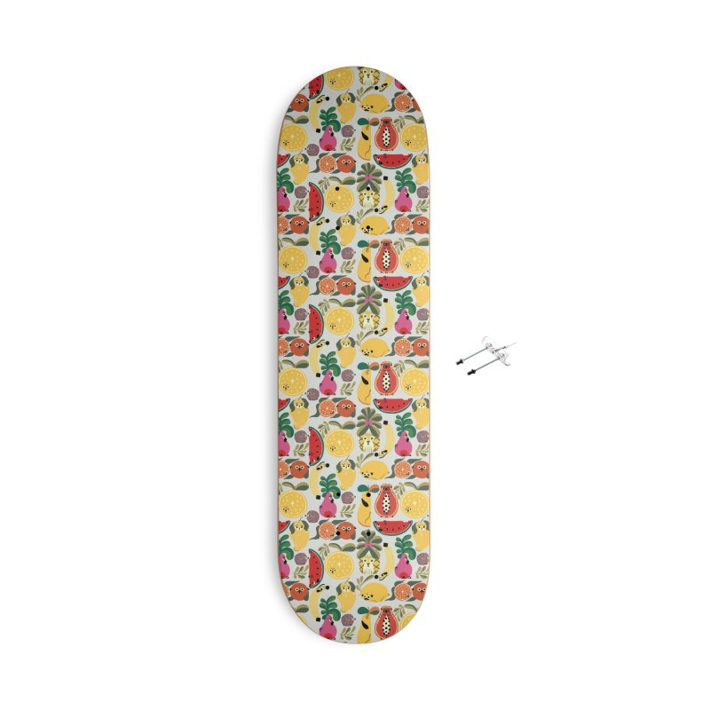 Puppical Fruits Accessories With Hanging Hardware Skateboard by huebucket's Artist Shop