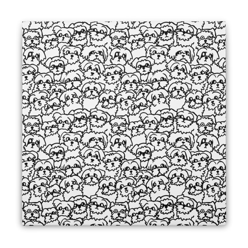 Oh Maltese Home Stretched Canvas by huebucket's Artist Shop