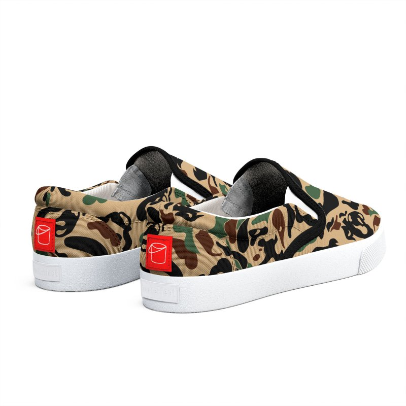 English Bulldog Camouflage Men's Shoes by huebucket's Artist Shop