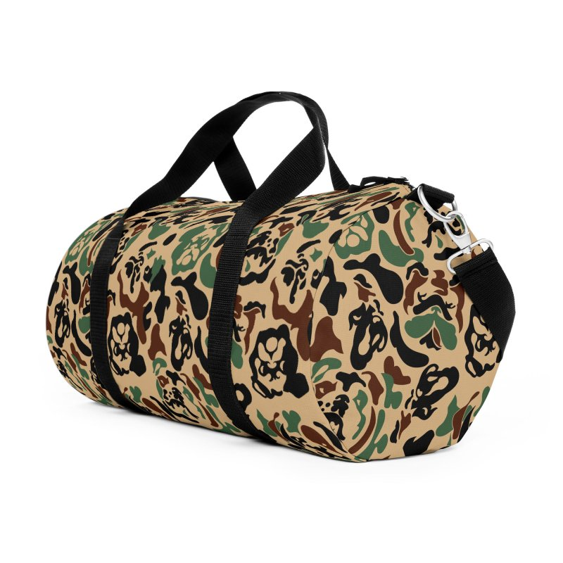 English Bulldog Camouflage Accessories Duffel Bag Bag by huebucket's Artist Shop
