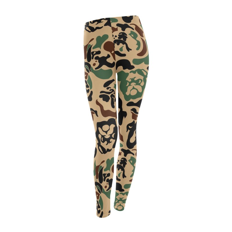 English Bulldog Camouflage Women's Leggings Bottoms by huebucket's Artist Shop