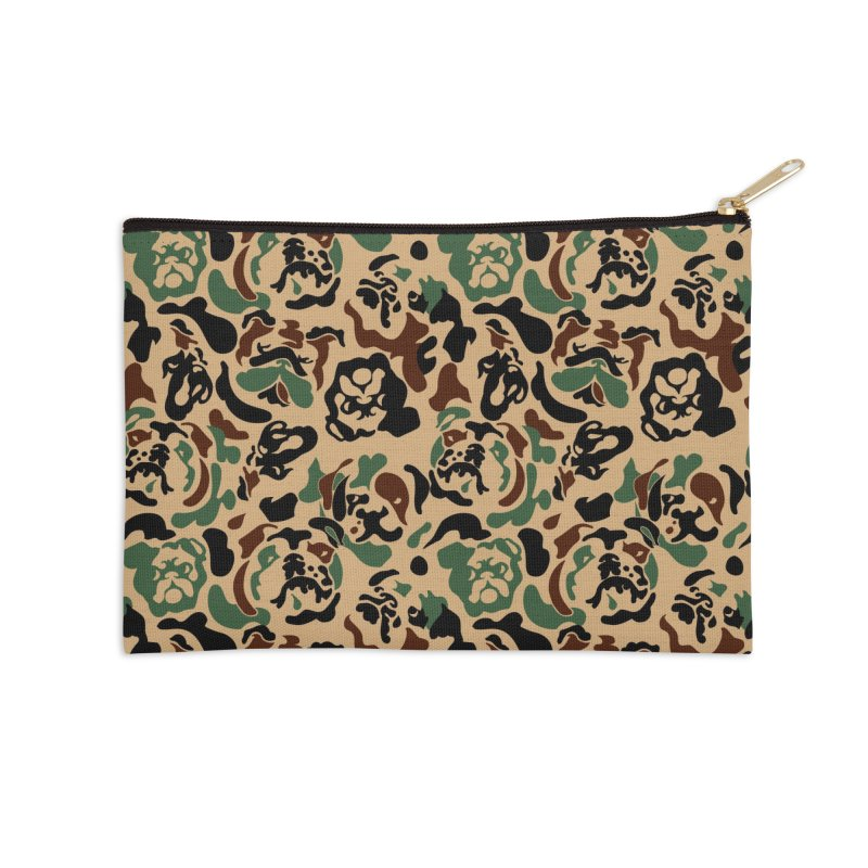 English Bulldog Camouflage Accessories Zip Pouch by huebucket's Artist Shop