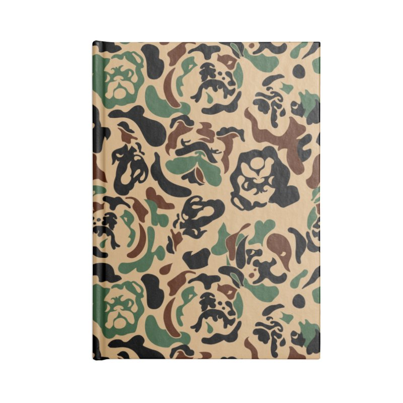 English Bulldog Camouflage Accessories Blank Journal Notebook by huebucket's Artist Shop
