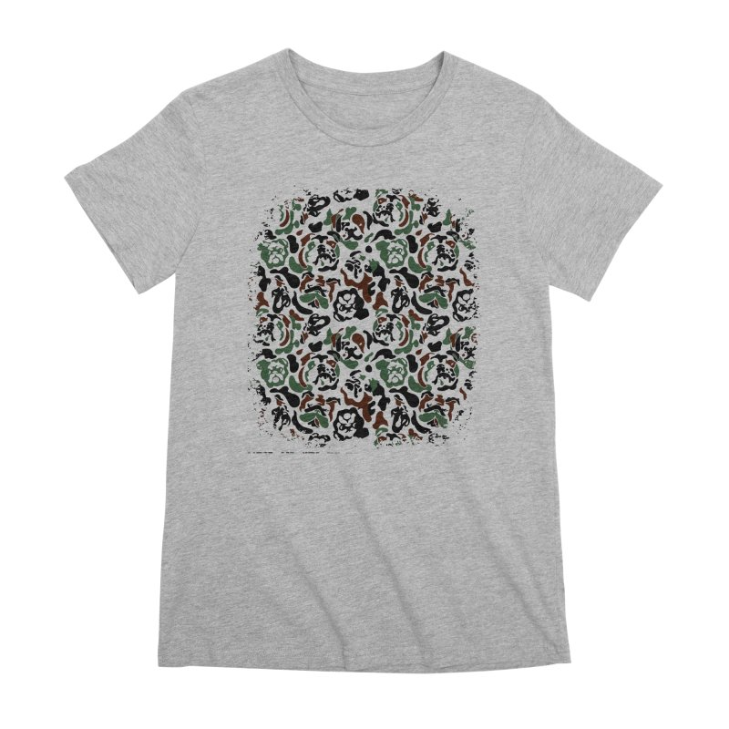 English Bulldog Camouflage Women's Premium T-Shirt by huebucket's Artist Shop