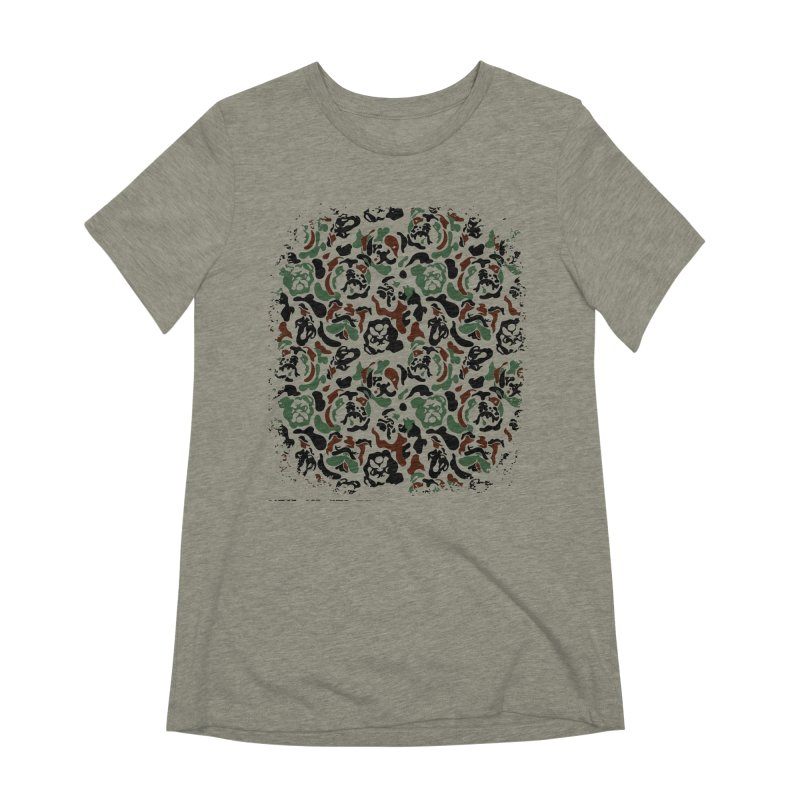 English Bulldog Camouflage Women's Extra Soft T-Shirt by huebucket's Artist Shop