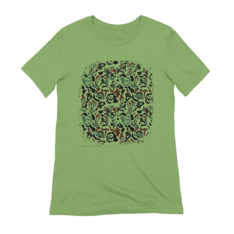 English Bulldog Camouflage Women's Extra Soft T-Shirt by huebucket's Artist Shop