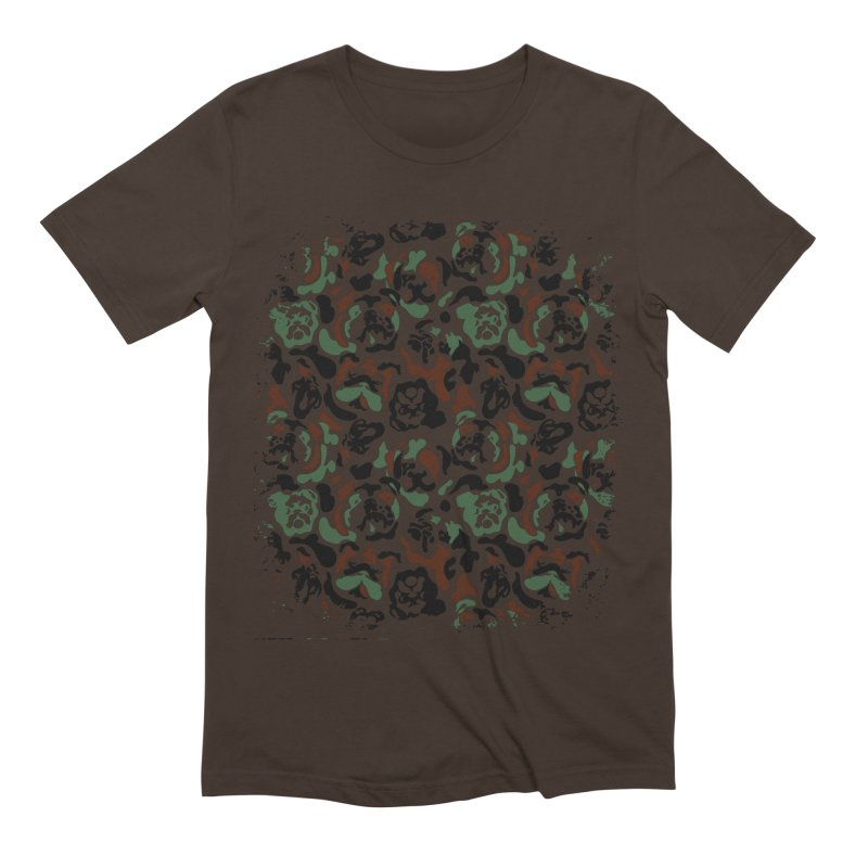English Bulldog Camouflage Men's Extra Soft T-Shirt by huebucket's Artist Shop