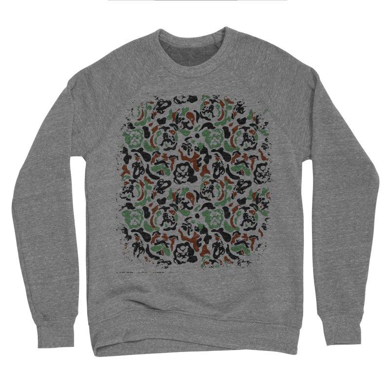 English Bulldog Camouflage Women's Sponge Fleece Sweatshirt by huebucket's Artist Shop