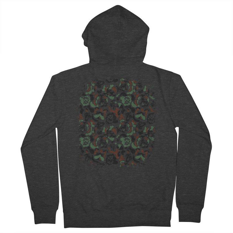 English Bulldog Camouflage Men's Zip-Up Hoody by huebucket's Artist Shop