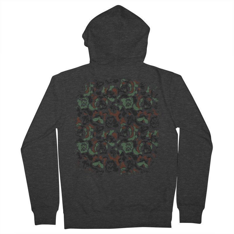 English Bulldog Camouflage Men's Zip-Up Hoody by huebucket's Artist Shop