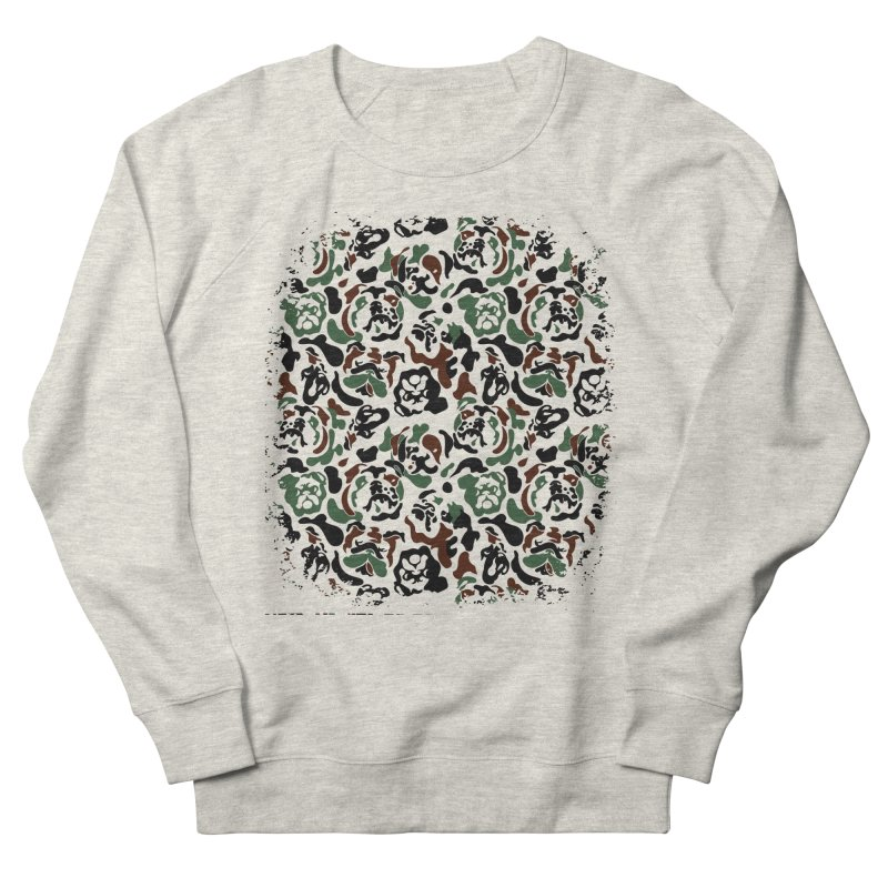 English Bulldog Camouflage Men's Sweatshirt by huebucket's Artist Shop