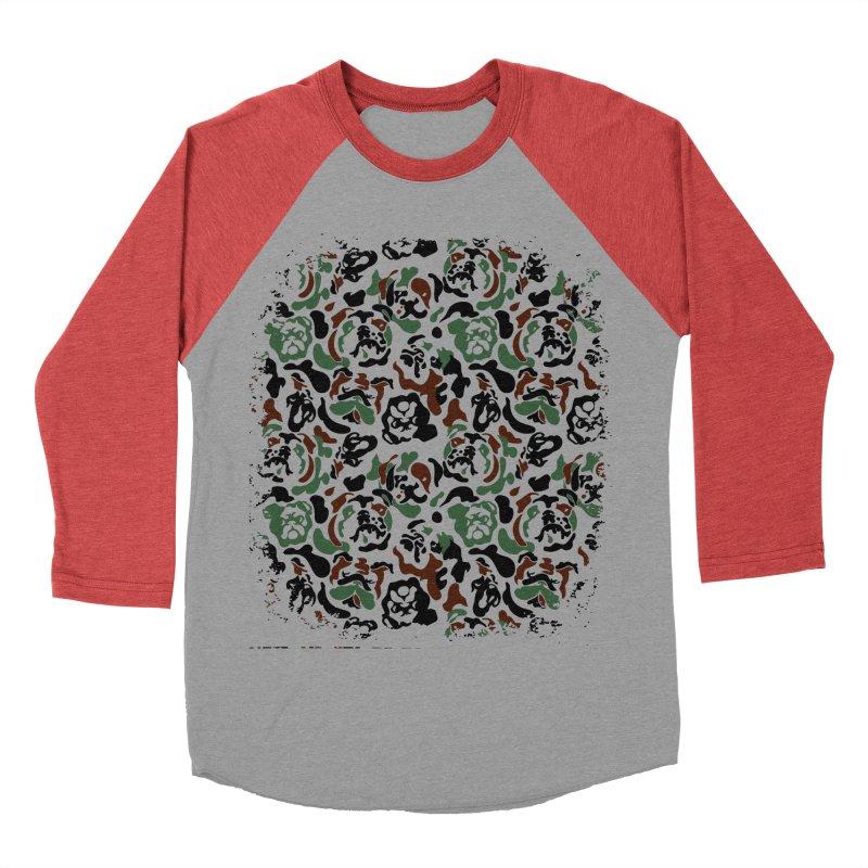 English Bulldog Camouflage Women's Baseball Triblend Longsleeve T-Shirt by huebucket's Artist Shop