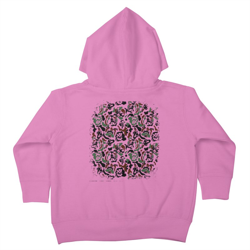 English Bulldog Camouflage Kids Toddler Zip-Up Hoody by huebucket's Artist Shop