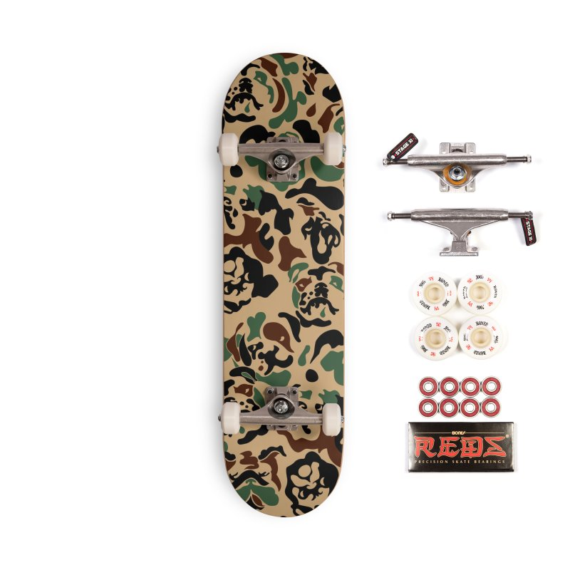 English Bulldog Camouflage Accessories Complete - Pro Skateboard by huebucket's Artist Shop