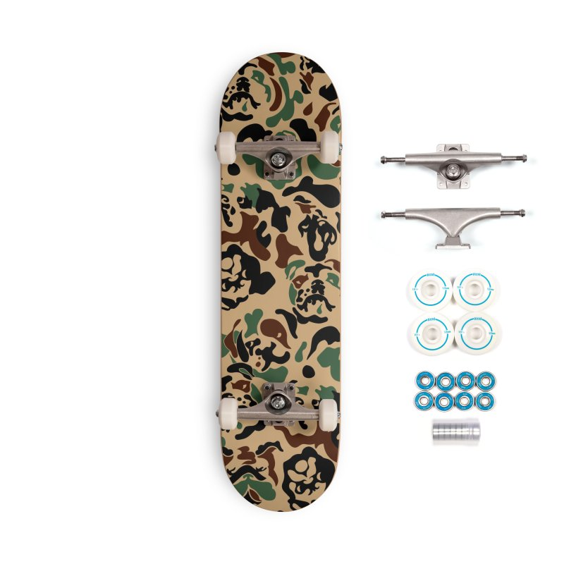 English Bulldog Camouflage Accessories Complete - Basic Skateboard by huebucket's Artist Shop