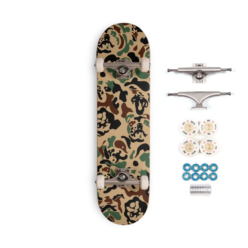 English Bulldog Camouflage Accessories Complete - Premium Skateboard by huebucket's Artist Shop