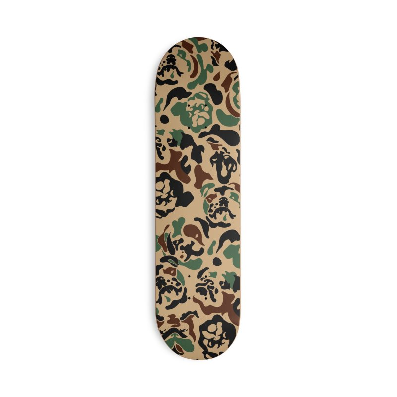 English Bulldog Camouflage Accessories Deck Only Skateboard by huebucket's Artist Shop