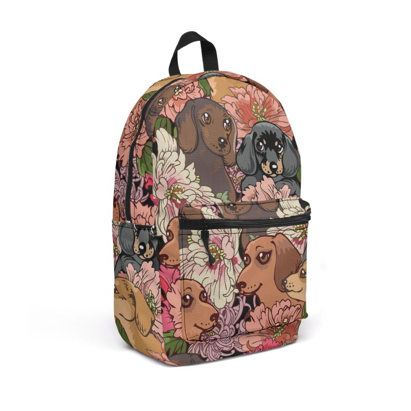 Because Dachshund Accessories Backpack Bag by huebucket's Artist Shop